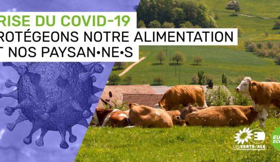 Covid19, agriculture et réforme de la PAC : Claude Gruffat et Benoit Biteau font part de leurs propositions à Didier Guillaume