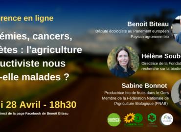 REPLAY #1 – Épidémies, cancers, diabètes : l'agriculture productiviste nous rend-elle malades ?