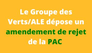 Les Verts déposent un amendement de rejet de la PAC