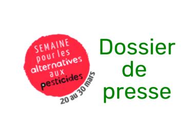 Semaine des alternatives aux pesticides – Dossier de presse