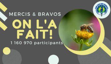 L'ICE «Sauvons les abeilles et les agriculteurs» réunit plus de 1,15 million de signataires !